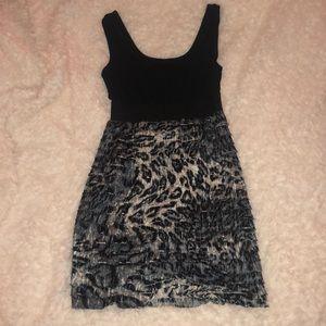 Dresses & Skirts - Grey and Black cheetah print dress